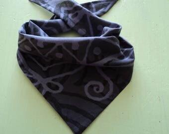 Bandana dog collar in pure cotton washable ironable