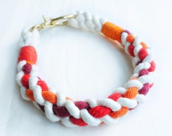 Autumn Cable Nautical Rope Dog Collar