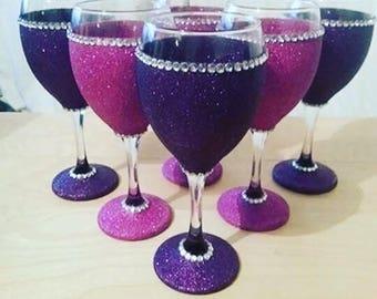 2pc Customize Wine Glasses