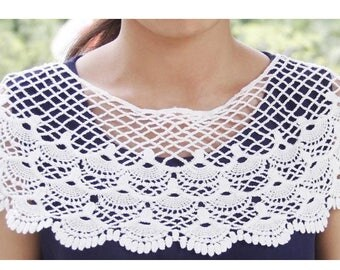 COLLAR deco spirit crochet creation to complement outfit. MOD 1