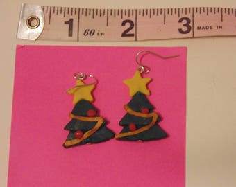 Handmade Christmas Tree Earrings