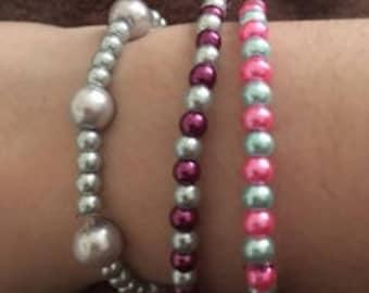 Multipack of 3 Beaded Bracelets