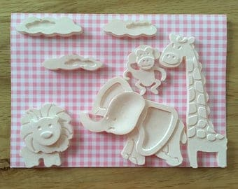 Greeting cards for birth 3d relief