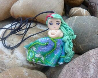 Mermaid necklace Mermaid doll necklace
