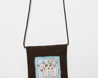 Pattern shoulder bag small cat
