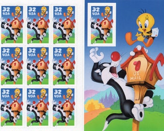 Sylvester and Tweety - That's all Folks!(10) Mint-Unused- Scott #3205 Full Sheet  Postage Stamps