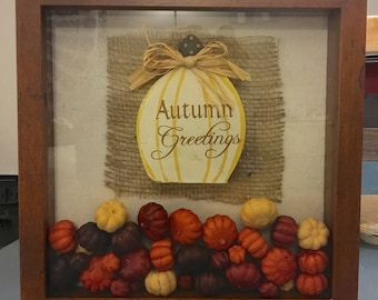 Shadowbox Fall Themed