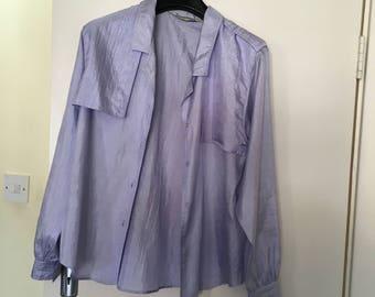 Lilac blouse/shirt by Diane von Furstenberg