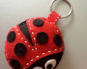 Red and black Ladybug keychain
