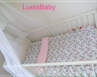 LuelaBaby couverture bebe minky lit cheval à bascule fille girl