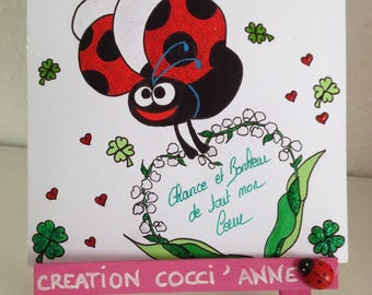 Ladybug and Valley - card pretty May 1st