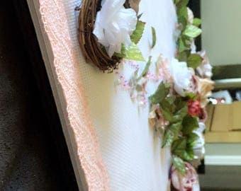 Handmade floral wall decor