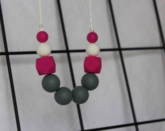 Silicone Necklace - Magenta