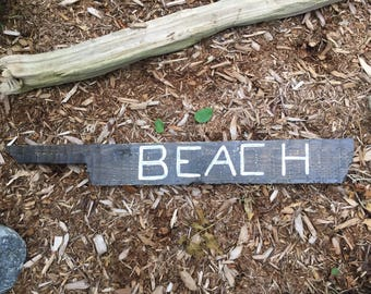 Rustic Beach Directional Reclaimed Wood Sign