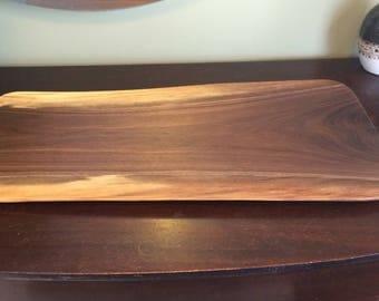 Live edge walnut charcuterie board
