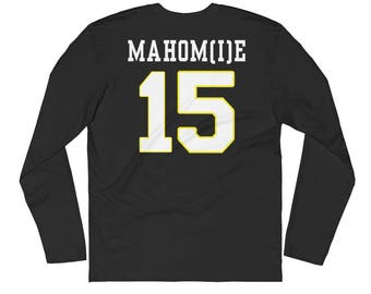 Mahomie #15 Long Sleeve Fitted Crew