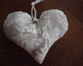 decorative door pillow toile de Jouy