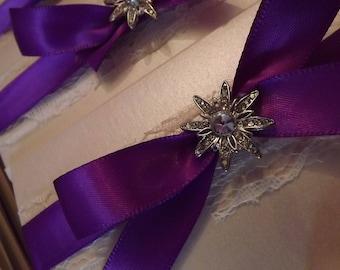 1 x Pocketfold sample Wedding Invitations Ribbon & Luxury Star design