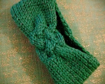Premie / Newborn Knitted Cable Headband