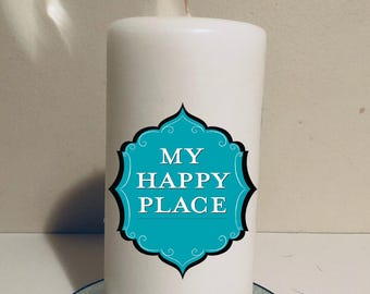 My happy place candle! Custom candle!