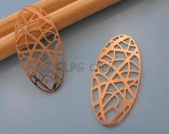 Prints watermark - stylized connector - 2 copper - Max: 12x26mm Sun # M38