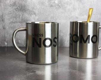 Nostromo Metal Mug - Alien mug - Alien Movie Unofficial Merchandise - Nostromo Stainless Steel Mug