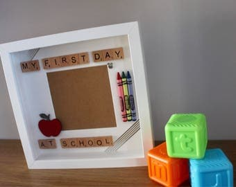 First day of school/1st day of school/School keepsake/Personalised school frame/My first day at school