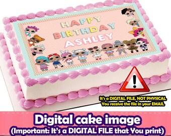 Lol surprise digital Cake Topper.Lol surprise DIGITAL FILE.Lol surprise Party.Lol surprise cake. Lol surprise edible bakery.Lol  cake image
