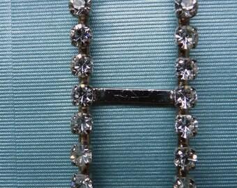 Vintage rhinestone belt buckle
