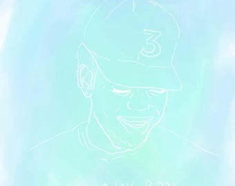 "Chance The Rapper ""Coloring Book"" Digital Art Print"