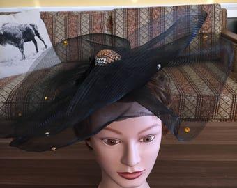 Vintage spider web hat