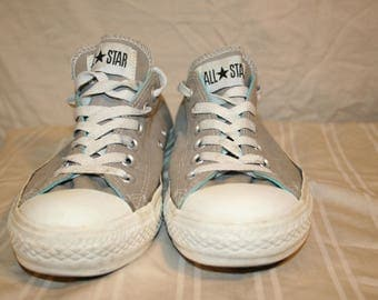 Chuck Taylor Gray and Green Blue All Stars Size 7 Womens, 5 UK 37.5 EU