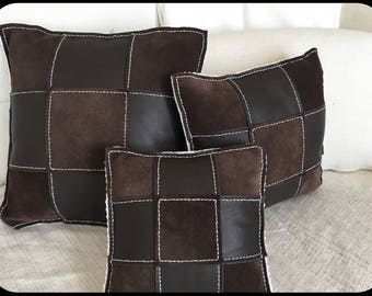 Leather Pillow 3/Baumwolle