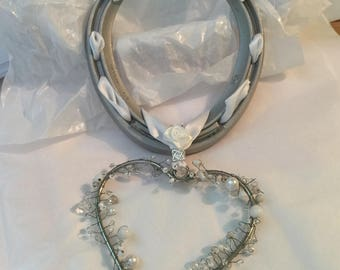 WITH LOVE  Hand Decorated Real Lucky Wedding Horseshoe