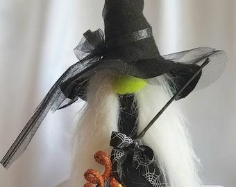 "Halloween Witch Gnome Holiday Decoration 008 ""Hildegunn"""