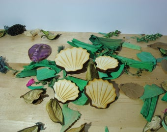lot 2 scallop 1387 embellishment wooden creations