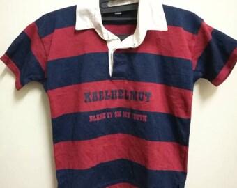 Vintage karl helmut stripe boys shirt