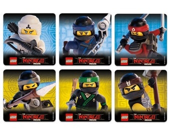 "25 Lego Ninjago Stickers, 2.5"" x 2.5"" Each"