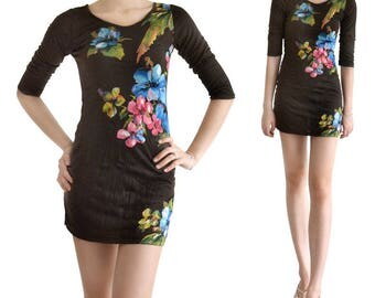 Long (M91) printed Jersey tunic dress