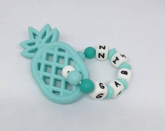 Pineapple silicone teething ring