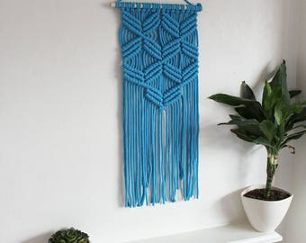 Long chunky macrame wall hanging variety of colours
