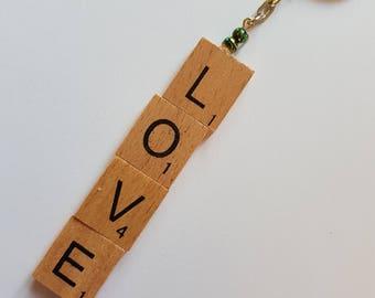 Scrabble letter keyrings all handmade with love.