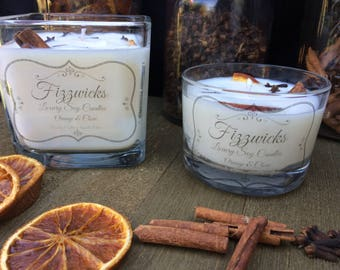 Orange & Clove Pure Soy Essential Oil scented Luxury Candle with added botanicals.