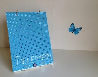 Handmade book ' Tai ' (Dutch, light blue)