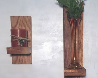Hand Crafted Oak Shelves