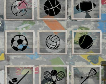 Sports Balls/Sticks/Raquets Decals