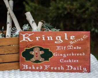 Kringle Baking Co.  Wood Sign