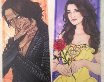 Bookmarks Belle and Rumple / Marques Pages Belle et Rumple
