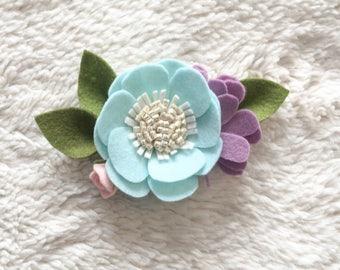 Large Felt Floral Headband