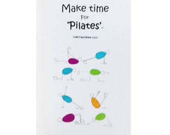 Pilates Greetings Card
